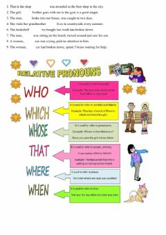 Interactive worksheet Relative pronouns who-which-whose