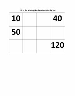 Ficha interactiva Counting by Ten