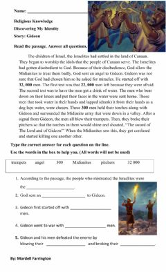 Interactive worksheet Gideon- Discovering My Identity