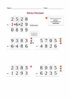 Interactive worksheet Restes portant