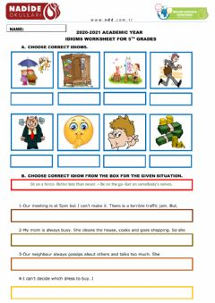 Interactive worksheet 5th Grades Idioms