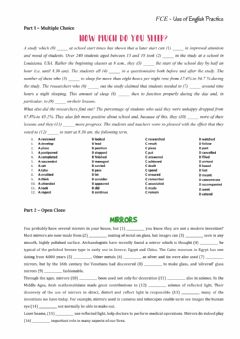 Interactive worksheet FCE Use of English Practice