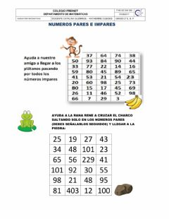 Interactive worksheet Numeros pares e impares