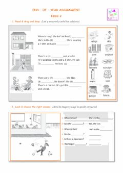 Interactive worksheet End of year ssigment kids 2
