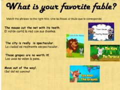 Interactive worksheet Phrases of a fable