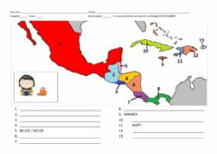 Interactive worksheet Central America Map 01