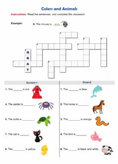 Interactive worksheet Colors and Animals