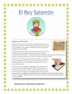 Interactive worksheet El Rey Salomon