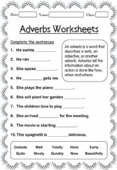 Interactive worksheet Adverbs