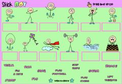 Ficha interactiva Stick Boy2 (Drag and drop)