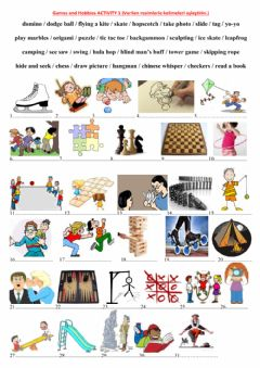 Interactive worksheet 5.3. Games and Hobbies Activity