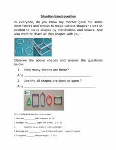 Interactive worksheet Situation based questions