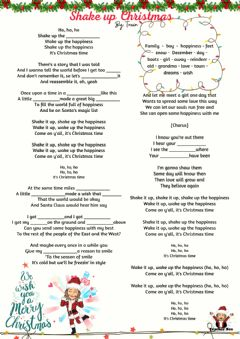 Interactive worksheet Shake up Christmas