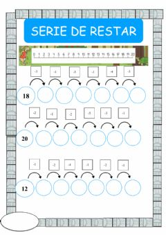 Interactive worksheet Series de restar 1