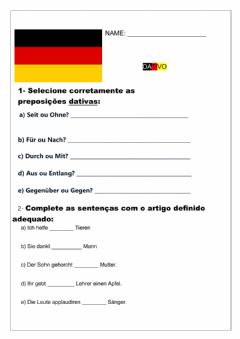 Interactive worksheet Dativo