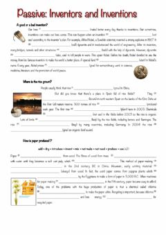Interactive worksheet Passive-inventors-and-inventions