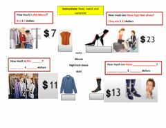 Interactive worksheet How much is this- are these?