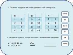 Interactive worksheet Sucesiones