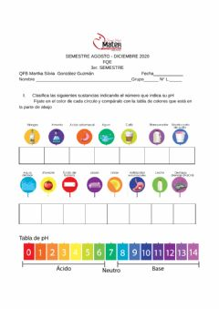 Interactive worksheet Ácidos y bases