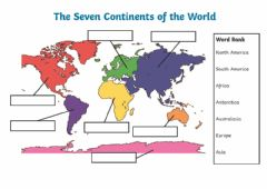 Interactive worksheet The seven continents of the world