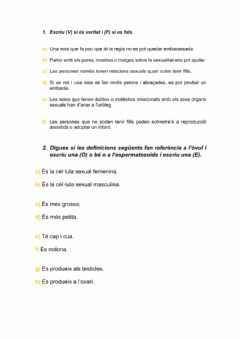 Interactive worksheet Activitat reproducció humans 1