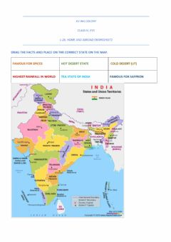 Ficha interactiva States of india-currency of world