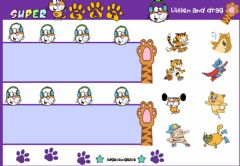 Interactive worksheet Super Cat (Listen and drag)