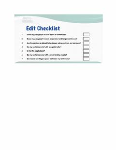 Interactive worksheet Editing Checklist (Expository Text)