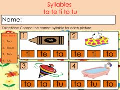 Interactive worksheet Review- Syllables