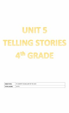 Ficha interactiva Unit 5: Telling Stories
