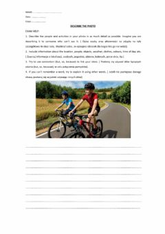 Interactive worksheet Describe the photo
