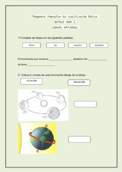 Interactive worksheet Los movimientos de la tierra y la luna
