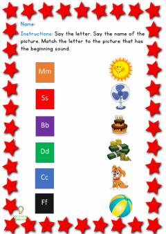 Interactive worksheet Letter Sounds Review