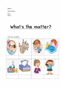 Interactive worksheet What's the matter