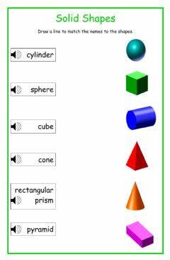 Ficha interactiva solid shapes 2
