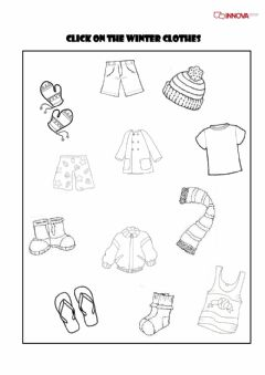 Interactive worksheet Click on the winter clothes