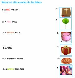 Interactive worksheet Matching activity