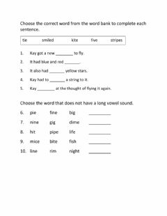 Interactive worksheet Long Vowel Sound i