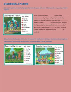 Interactive worksheet Describe the picture