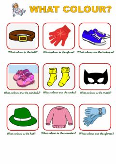 Interactive worksheet What Colour?