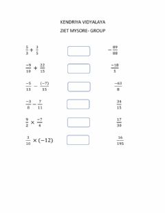Ficha interactiva Class 7-Rational numbers-Place the correct answers