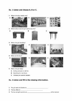 Interactive worksheet Listening and reading comprehension