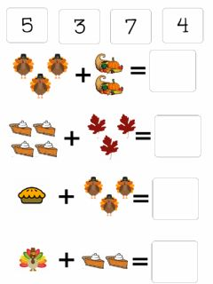 Ficha interactiva Thanksgiving addition