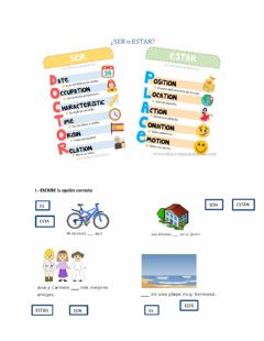 Interactive worksheet Lugares y descripciones