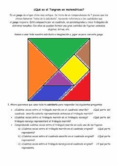 Interactive worksheet Tangram
