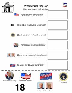 Interactive worksheet Presidential Election 2020
