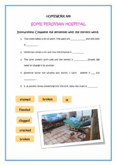 Interactive worksheet Past participle as an adjective