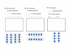 Ficha interactiva Equal groups for division