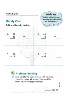 Interactive worksheet Use addition to check subtraction