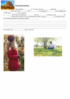 Interactive worksheet STORY - use past simple and past continuous